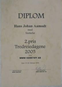 2. pris Tredreiedagene 2005